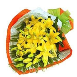 Gorgeous Bouquet of 8 Yellow Lily