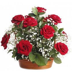 Deliver Red Roses Arrangement Online