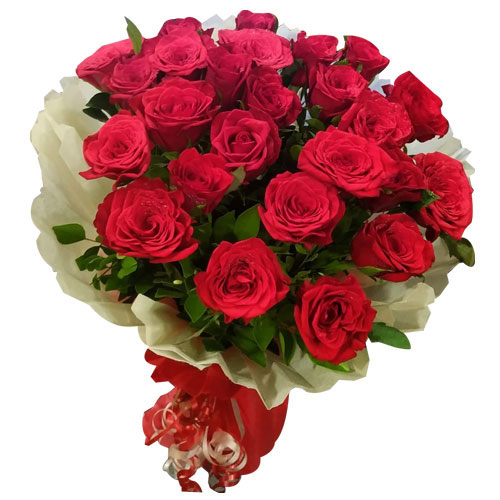 Send Online Pink Roses Bunch with Eggless Chocolate Cake