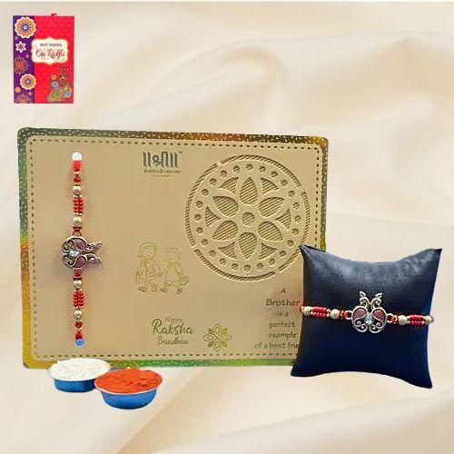 Admirable Golden Metal Designer Rakhi<br>