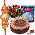 Irresistible <font color=#FF0000>Haldiram</font>'s Assorted Sweets Teamed with a Choco Pie Box