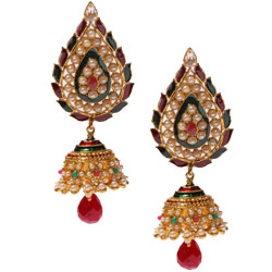 Traditional Earring Set in Jhumka Design