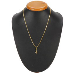 Extraordinary American Diamond Studded Gold Pendant from Anjali (22K)