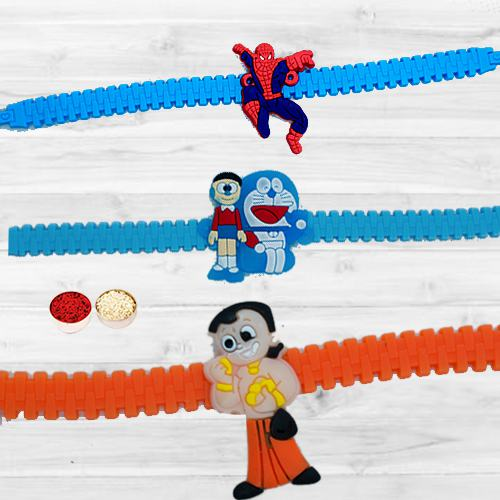 Exclusive Chota Bheem, Doraemon n Spider Man Rakhi for Kids