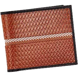 Classy Looking Genuine Leather Brown Colored Gents Leather Wallet with Black Border from Leather Talks