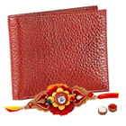 Genuine Leather Reddish Brown Shade Leather Wallet from Leather Talks with Rakhi and Roli Tilak Chawal