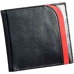 Machine Stitched Black Genuine Leather Gents Wallet from Leather Talks