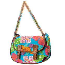 Appealing Flower Power Messenger Bag Made by Avon