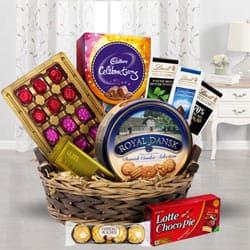 Festival Basket Full of Chocolates