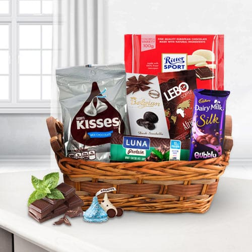 Deluxe Chocoholic Gift Basket<br>