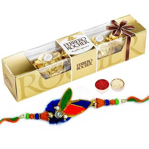 Captivating Rakhi with Ferrero Rochers