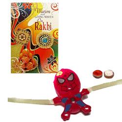 Fancy One Batsman Design Kids Rakhi
