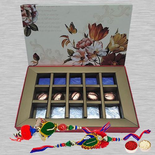 Amazing Lumba Rakhi Set with Homemade Chocolate Box