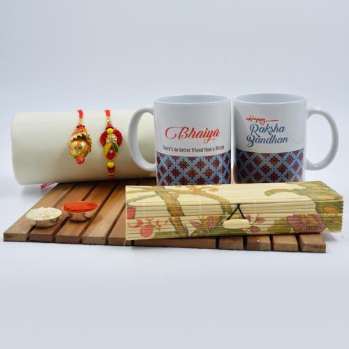 Fancy Lumba Rakhi Set with Bhaiya Bhabhi Coffee Mug