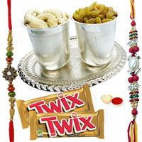 Unique 7-8 Inch Pooja Thali with Parker Pen and 2 Chocos from Twix