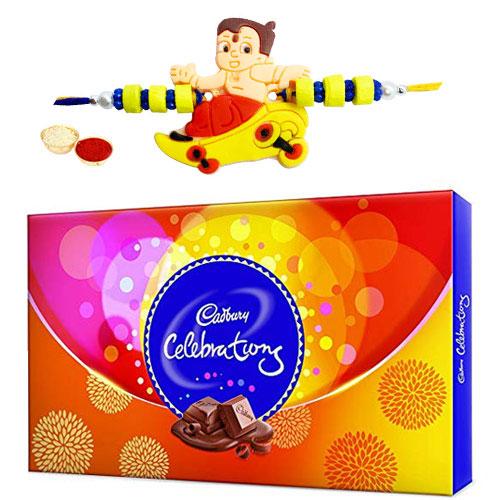 Yummy Pack of 18 pcs. Chocolate with Rakhi
