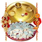 Special Gold Thali with <font color=#FF0000>Haldiram</font>s Badam Katli with Free Rakhi