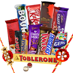 Gorgeous Rakhi Celebration Hamper with Taste of Love