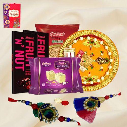 Exclusive Bhaiya Bhabhi Rakhi Set with Assortments Combo