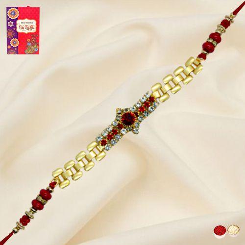 Fabulous Golden Bracelet Rakhi