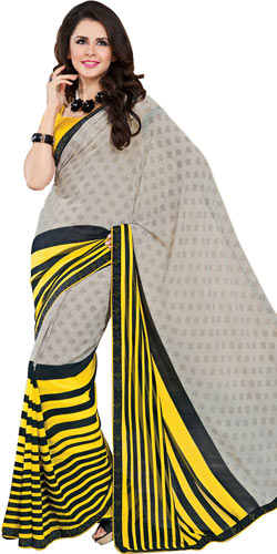 Outstanding Multicolor Faux Georgette Saree