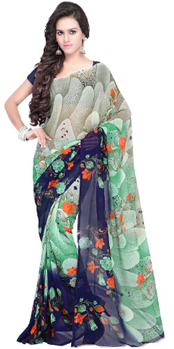Preppy Georgette Saree