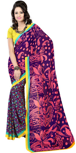 Exquisite Enchant Faux Georgette Saree