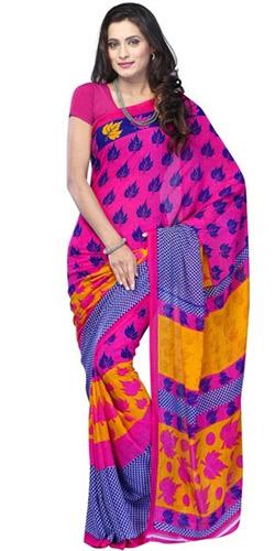 Stylish Comfort Mix Material Saree