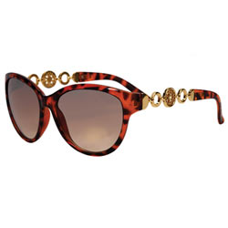 Magnificent Chain Linked Tortoise Shell Ladies Sunglasses Made by Avon