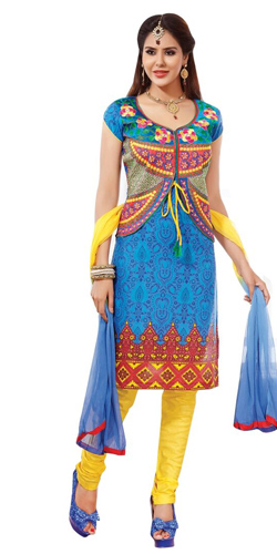 Astonishing Pure Cotton Salwar Suit in Multicolour