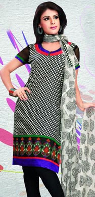 Beautiful Chiffon Embroidered Salwar Kameez in Pink