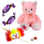 Big Teddy Bear  with Free Kids Rakhi and Chocolates