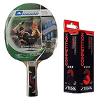 Famous Donic Young Champ 400 Table Tennis Racquet 2pcs set ,Stiga Competition 3 Star Table Tennis Ball - 3
