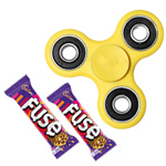 Majestic Cosset Assortment of Fidget Hand Spinner and Cadbury Chocolate