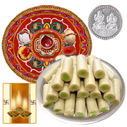 Diwali Thali with Kaju Roll