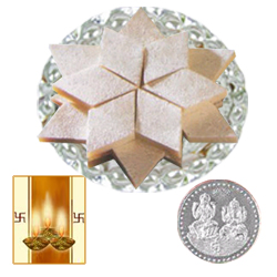 Ferrero Rocher Chocolate 12 Pcs with free Siver Plated Coin and  Diwali Card.
