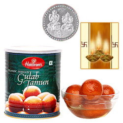 Haldiram Gulab Jamun with Silver Plated Coin