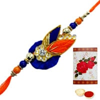One or More Designer Ethnic Rakhi to USA ( Non Tracking )<br /><font color=#0000FF>Free Delivery in USA</font>