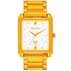 Attractive Titan Sonata Watch for Men in Golden Colour