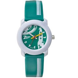 Exclusive White and Green Kids Watch Manufactured by Titan Zoop