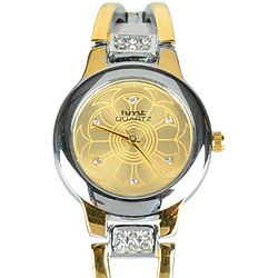Trendy Two Tone Fashion Wrist Watch for Women
