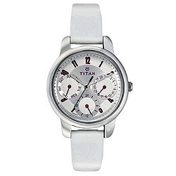 White Attraction Special Titan Tagged Ladies Watch