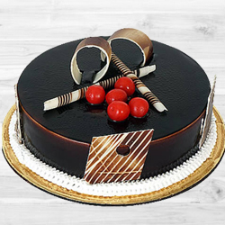 Tasty delicious dark Chocolate Truffle Cake