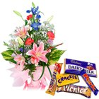 Flowers and Chocolates  to Chennai by Chennai Florist