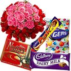 Special Pink and Red Roses with Cadbury chocolate to Chennai.
