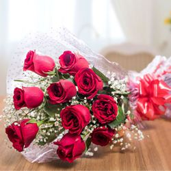 Mesmerizing Bouquet of Red Roses to chennai