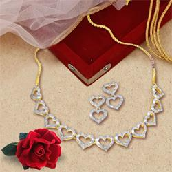 Heart Necklace and Earring  Set from Avon
