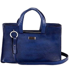 Blue Suave Looking Genuine Leather Handbag from Leather Talk