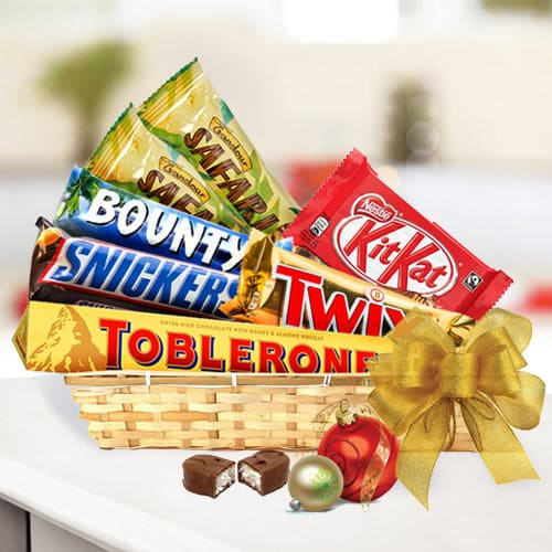 Finest Chocolate Selection Gift Basketbr