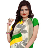 Send Exclusive Rainbow Chiffon N Crepe Printed Saree for Women to Chennai